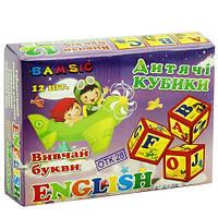 Кубики пластмассовые English 315 Бамсик, 12 шт