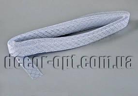 Сетка белая с люрексом для бантов и декораций 2см/25ярд
