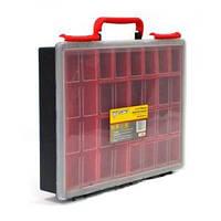 Ящик органайзер FORTE 1-1360 с вынимающимися отделениями (340х250х60 мм)