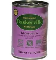 Консервы для котов Baskerville утка с индейкой,  400г