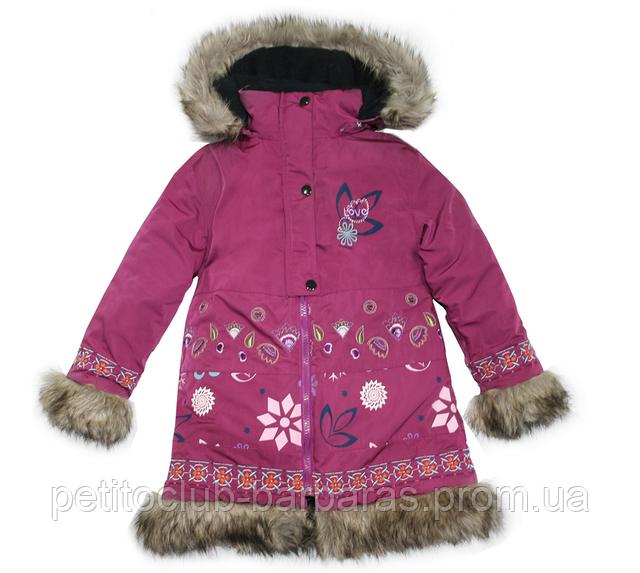 Детская зимняя куртка для девочки FOLK  (Quadrifoglio, Польша)