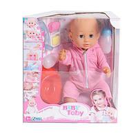 Кукла Беби Тоби 30719-4: 42 см, звук, работа от батареек, аксессуары, коробка 33х37,5х18,5 см