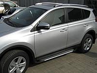 """Пороги боковые """"Saphire"""" для Toyota Rav-4 2013"""