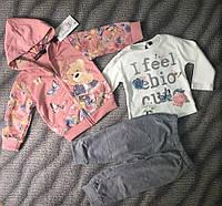 Спортивный костюм 3-ка для девочек 1-5 лет Для девочек, Grace, Весна/осень, 65%,35%полиэстр, Венгрия, 3года