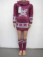 Туника вязанная для  девочки Снежинка