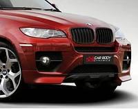 Юбка переднего бампера CarBodyDynamics на BMW X6 E71
