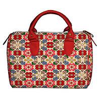Женская сумка с абстрактным принтом