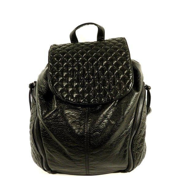 Рюкзак кожзам молодіжний чорний Batty 304