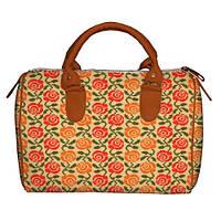 Модная сумка бочонок  с принтом