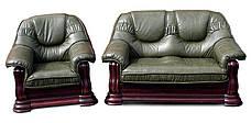 """Классический кожаный диван """"GRYZLI"""" Hup (190см), фото 3"""