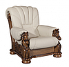 """Кожаный раскладной диван с резьбой  """"MUSTANG"""" (200см), фото 4"""