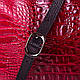 Яркая женская кожаная сумка DESISAN (ДЕСИСАН) SHI2811-1KR  (красный), фото 6