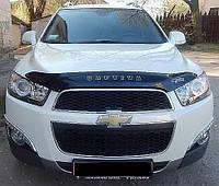 Дефлектор на капот (мухобойки) Chevrolet Captiva 2012-