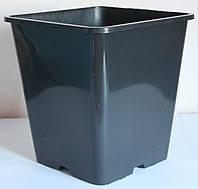 Горшок для рассады 11л(25x25x26см),квадратный, высокий,50шт\уп