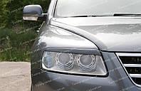 Реснички Фольксваген Туарег 1 (накладки на передние фары Volkswagen Touareg 1)