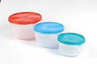 Лоток круглый 3 в 1 (пищевые контейнеры 0,5л + 1,25л + 2,25л)