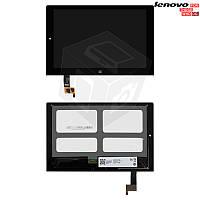Дисплейный модуль (дисплей + сенсор) для Lenovo Yoga Tablet 2-1051 LTE, черный, оригинал