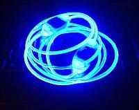 Светящиеся шнурки  4-го поколения,синие —самые Ярки!
