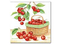 Салфетка для декупажа — Вишневый урожай,  33x33 см