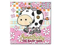 Салфетка для декупажа Милая коровка, 33x33 см