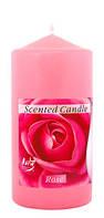 Свеча ароматизированная роза, цилиндрическая 60х120мм. 1шт