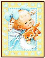 Набор Папертоль - Девочка с котенком, 15x20 см, 1 шт