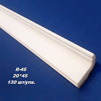Плинтус потолочный багет Киндекор R-45 (20*45)