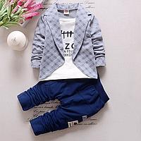 Модний комплект-двійка для хлопчиків, піджак-обманка
