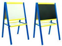 Мольберт магнитный двухсторонний 50х40 сине-желтый