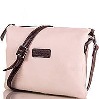 Модная женская кожаная сумка DESISAN (ДЕСИСАН) SHI2811-12FL  (бежевый)