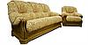 """Кожаный диван с креслом """"Граф 4090""""  (3р+1), фото 6"""
