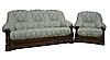 """Кожаный диван с креслом """"Граф 4090""""  (3р+1), фото 7"""