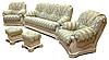 """Кожаный диван с креслом """"Граф 4090""""  (3р+1), фото 8"""
