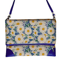 Стильная сумка с принтом ромашек