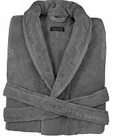 Мужской махровый халат DOWNTOWN   DARK GREY размер XL