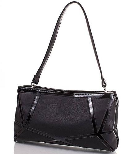 Стильная сумка-клатч из качественного кожзаменителя ANNA&LI (АННА И ЛИ) TUP13842-2 (черный)
