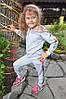 """Детский спортивный костюм для девочек """"Спорт с цветами"""""""