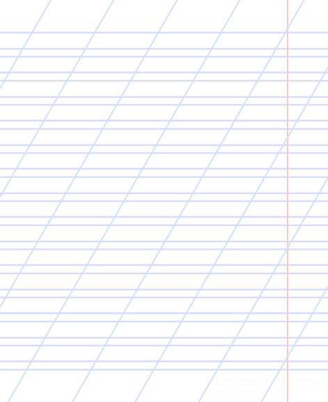 Тетради в косую линию без дополнительной линии