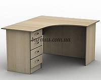 Угловой письменный стол  СПУ-4,120*120, дуб молочный