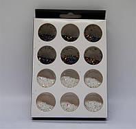 Набор для дизайна ногтей (черный и белый с блеском)