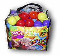 Шарики мягкие для сухих бассейнов и палаток, 80 мм 100 шт в сумке 01159