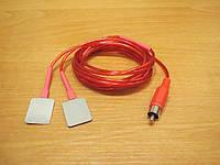 Кабель пациента раздвоеный для многоразовых электродов, провод с электродами для аппарата ПОТОК-01М