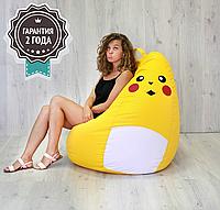 """Детское кресло мешок """"Poke"""" XL 110x85 см желтый"""