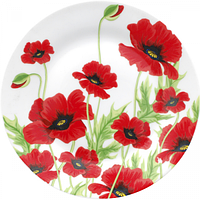 Тарелка 20 см Красный мак. Набор 12 шт