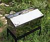 """Коптильня с термометром (520х300х310) крышка """"Домик"""""""