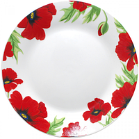Тарелка 23 см Красный мак