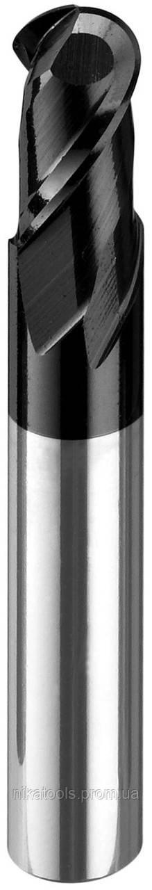 Фреза концевая твердосплавная сферическая по стали или нержавейке, диаметр 1 мм 500LH2BZ-010 - NikaTools интернет портал в Харькове