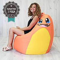 """Детское кресло мешок """"Poke"""" XL 110x85 см оранжевый, фото 1"""