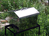 Коптильня из нержавеющей стали (400 х 300 х 310) крышка Домик, фото 1