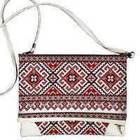 Женская сумка через плечо с вышитым орнаментом
